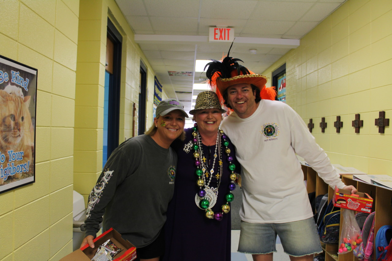 Principal Cindy Hahn ready to celebrate Mardi Gras