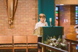 Christopher Mavar - reader at mass