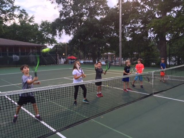 OLF students at the Bayou Bluff Tennis Clinic